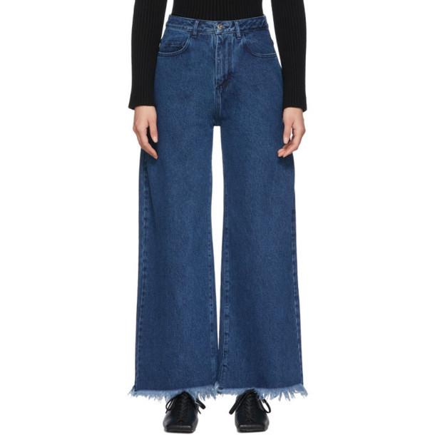Marques Almeida Blue Boyfriend Jeans