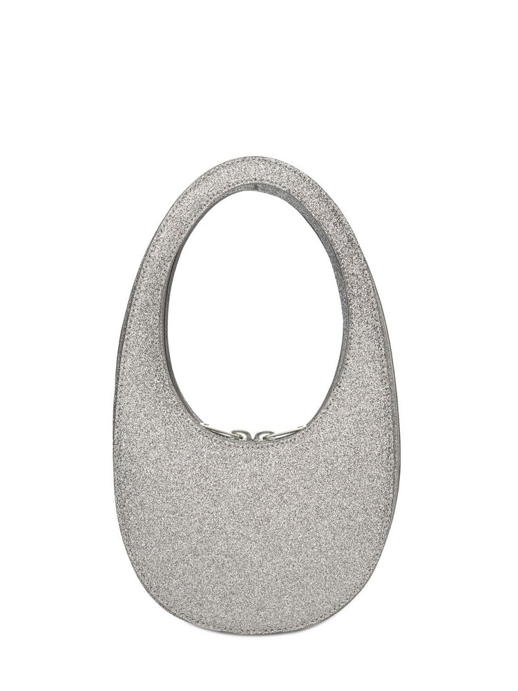 COPERNI Mini Glitter Swipe Leather Bag in silver
