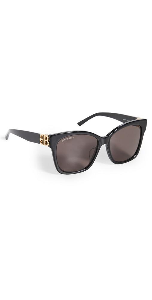 Balenciaga Dynasty Vintage Square Sunglasses in black