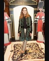 pants,olivia palermo,celebrity,blogger,blogger style,fashion week,fur,vest