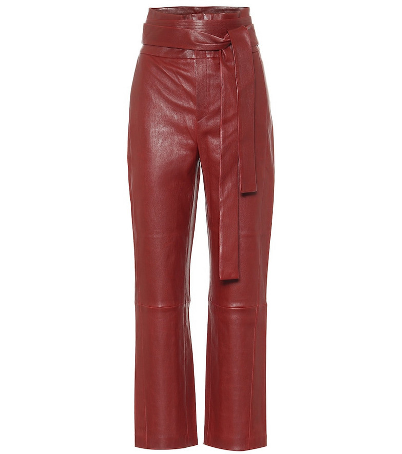 Stouls Katousha high-rise leather pants in red