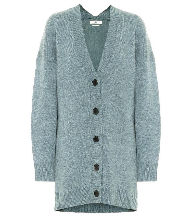Isabel Marant, Étoile Moana wool-blend oversized cardigan in blue