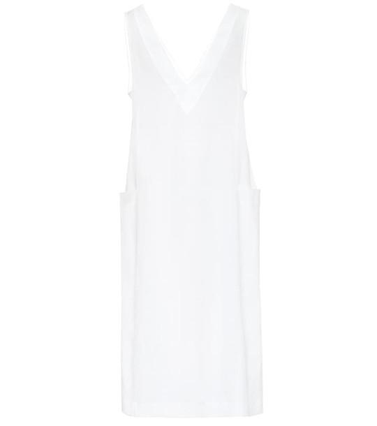 Asceno Seville linen midi dress in white