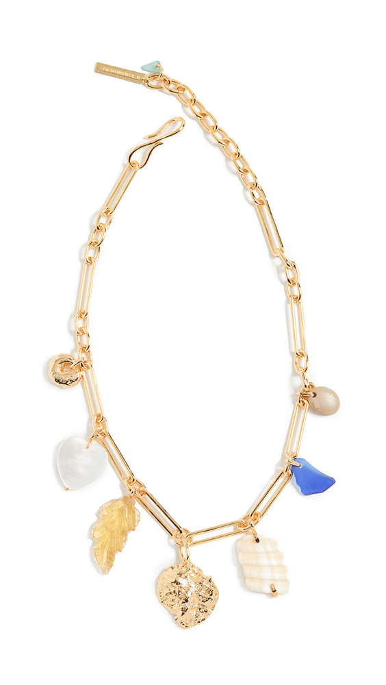 Lizzie Fortunato Paradise Charm Necklace in gold / multi