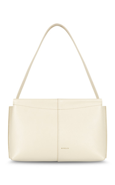 Wandler Carly Mini Leather Shoulder Bag in ivory
