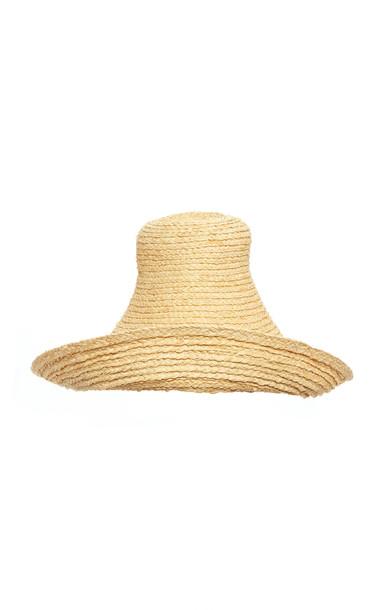 Jacquemus Le Chapeau Woven Raffia Hat in neutral