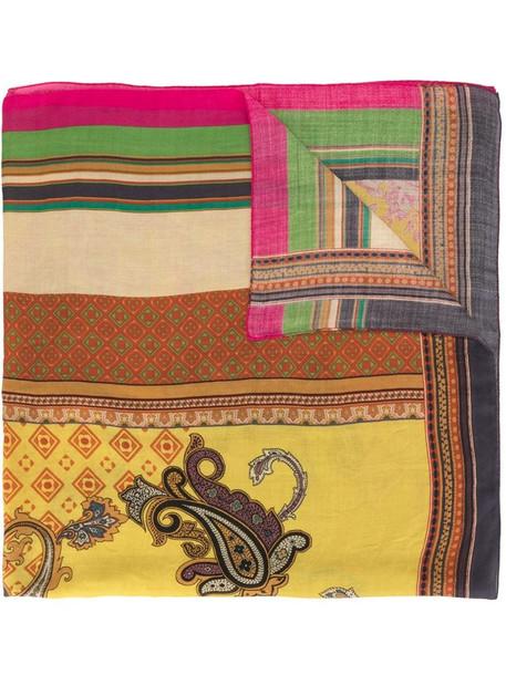 Etro paisley print silk-blend scarf