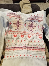 top,heart,deer shirt,tribal pattern
