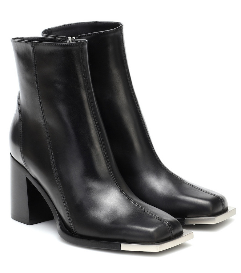 Peter Do Leather ankle boots in black