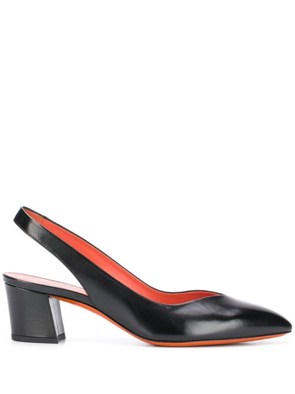 Santoni pointed toe pumps in black