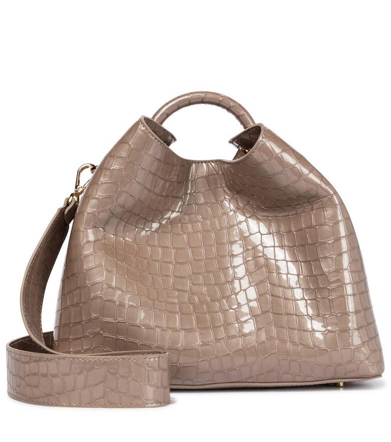 Elleme Raisin leather shoulder bag in brown