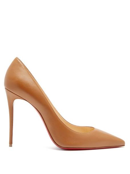 Christian Louboutin - Kate 100 Leather Pumps - Womens - Tan
