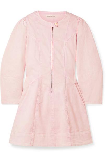 Ulla Johnson - Wilona Denim Mini Dress - Baby pink