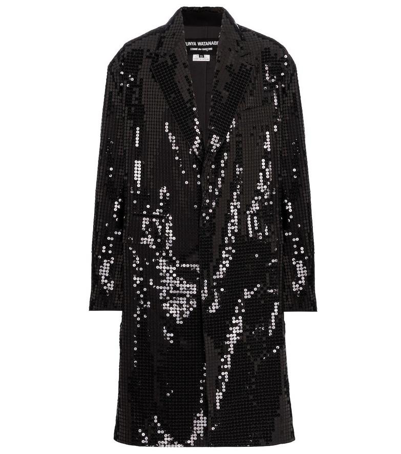 Junya Watanabe Sequined coat in black