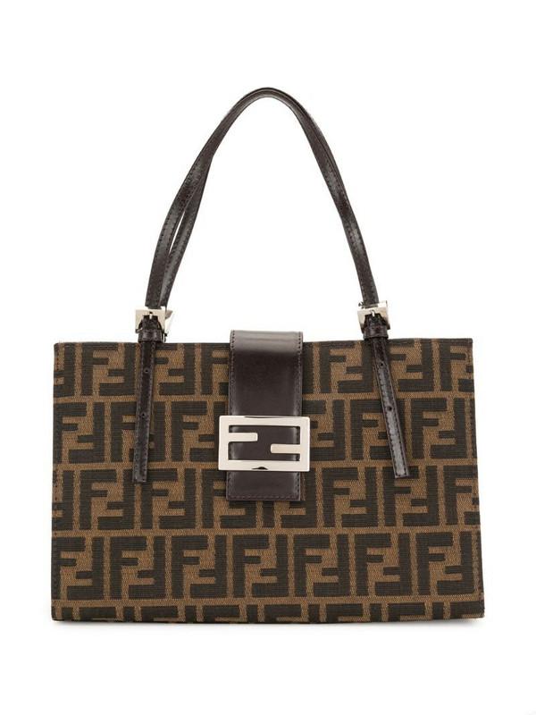 Fendi Pre-Owned Zucca pattern handbag in brown