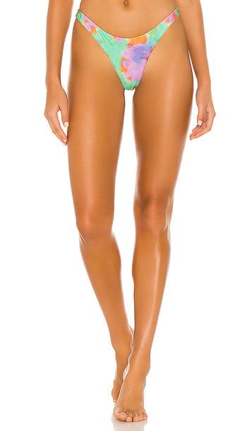 Vix Swimwear Rio Basic Cheeky Bikini Bottom in Green, Lavender