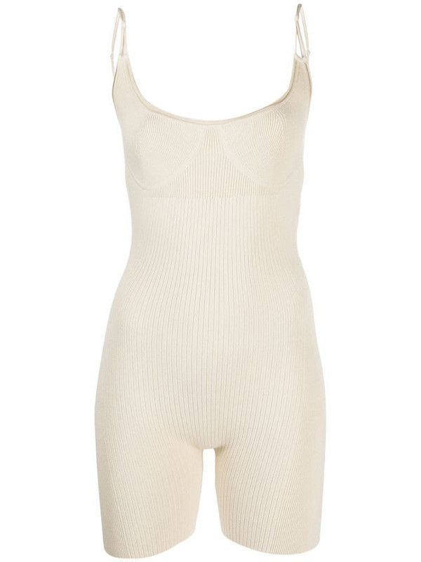 Jacquemus Body Short cycling playsuit in neutrals