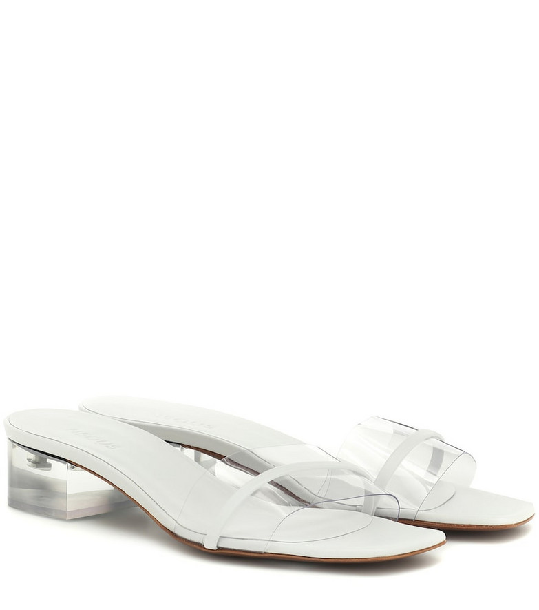Neous Osty 30 PVC and leather sandals in white