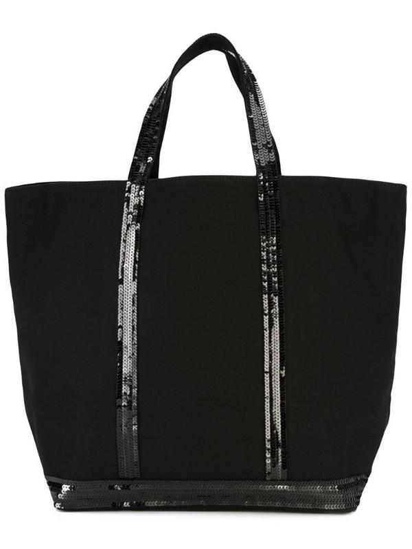 Vanessa Bruno sequin embellished tote in black