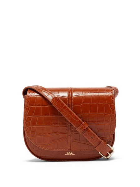 A.P.C. A.P.C. - Betty Croc-effect Leather Cross-body Bag - Womens - Tan