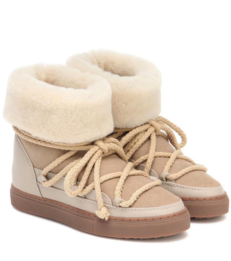 Inuikii Classic suede boots in beige