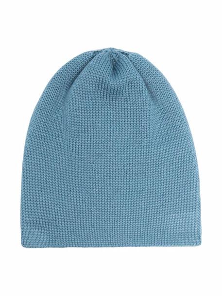 Little Bear ribbed knit hat - Blue
