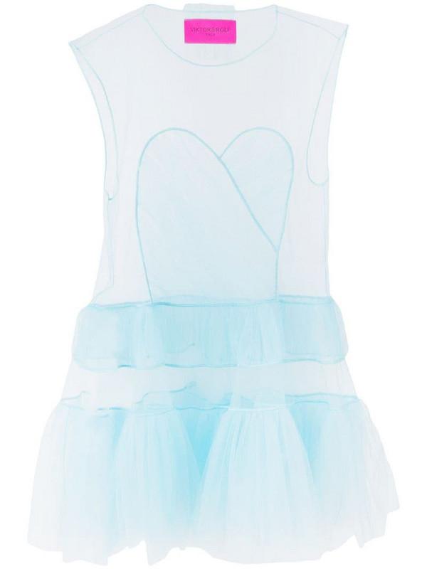 Viktor & Rolf Dress With Hole short dress in blue