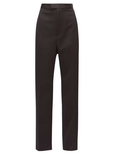 Bottega Veneta - Wide-leg Satin-stripe Tuxedo Trousers - Womens - Black