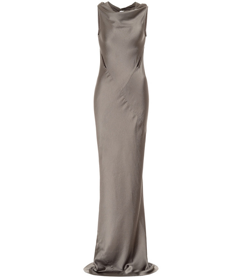 Rick Owens Satin gown in grey