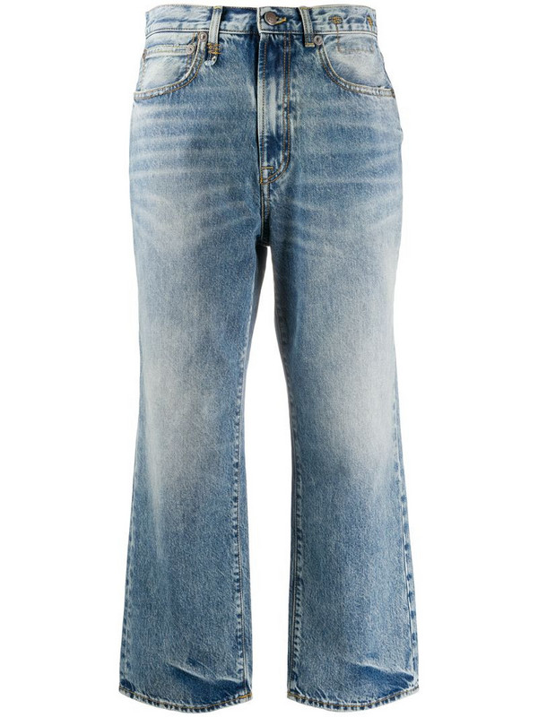 R13 Royer mid-rise straight jeans in blue