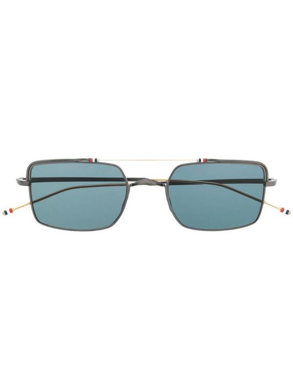Thom Browne Eyewear aviator square sunglasses in black