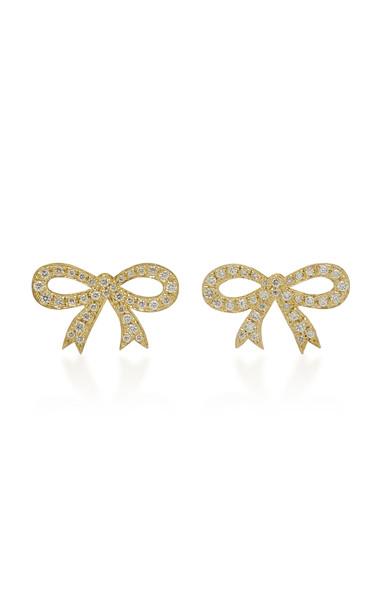 Irene Neuwirth 18K Gold And Pavé Diamond Stud Earrings
