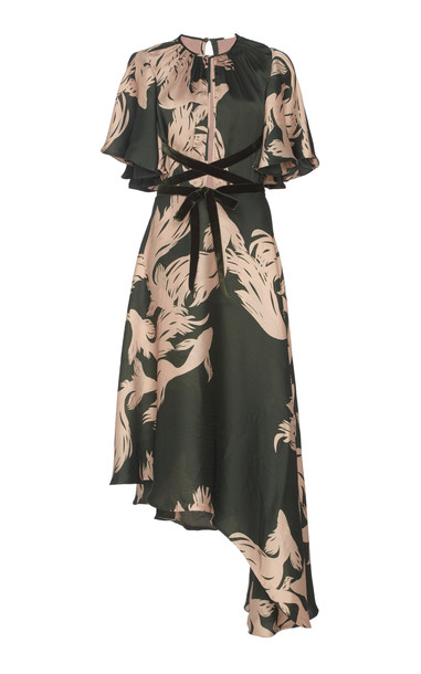Johanna Ortiz El Despertar De La Esencia Printed Georgette Maxi Dress in print