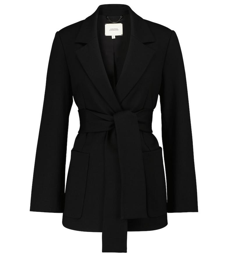 Dorothee Schumacher Emotional Essence wrap jacket in black