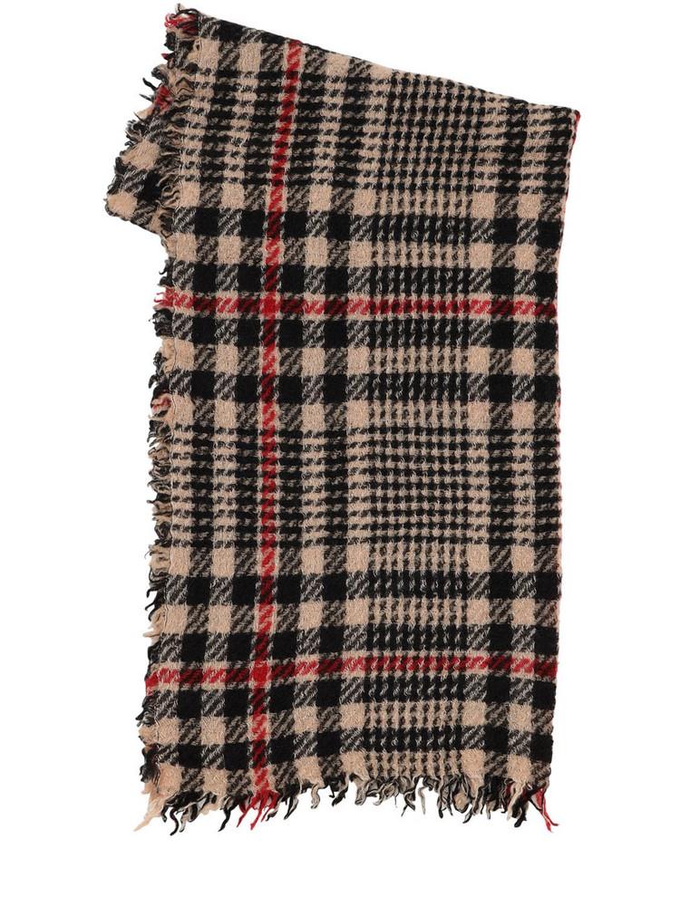 FALIERO SARTI Mark Cashmere & Wool Blend Scarf in ecru / red