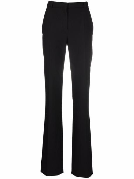 Nina Ricci pressed-crease four-pocket flared trousers - Black