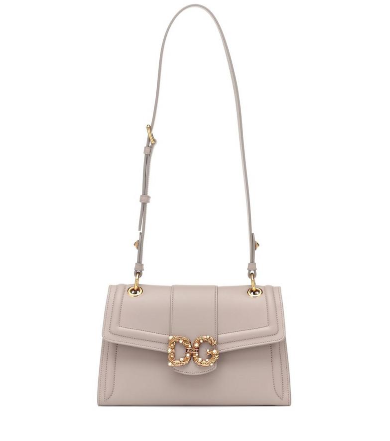 Dolce & Gabbana DG Amore leather shoulder bag in pink