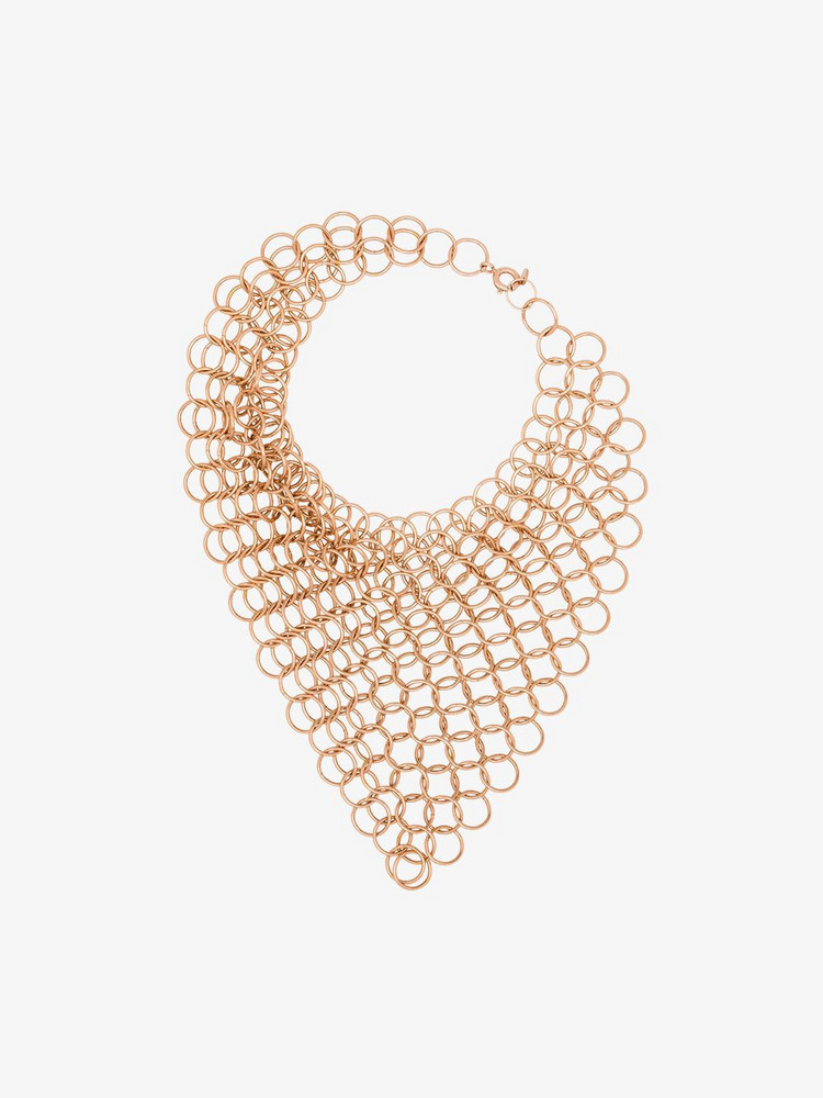 Saskia Diez bronze tone chain bracelet in gold