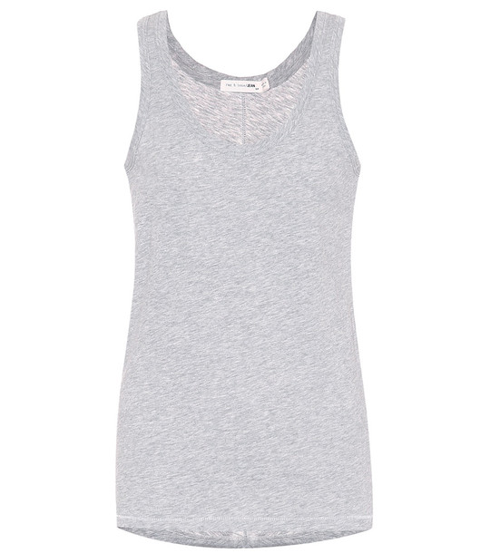 Rag & Bone Cotton tank top in grey