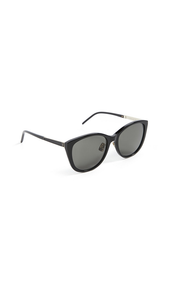 Saint Laurent SL M71/K Feminine Cateye Sunglasses in black / gold