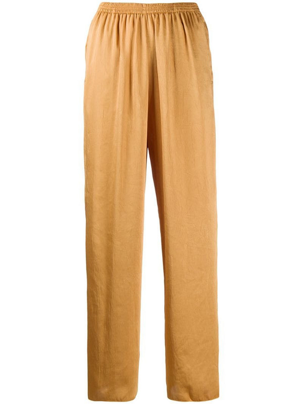 Forte Forte pull-on wide-leg trousers in neutrals