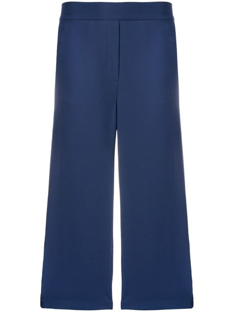 Michael Michael Kors cropped straight-leg trousers in blue