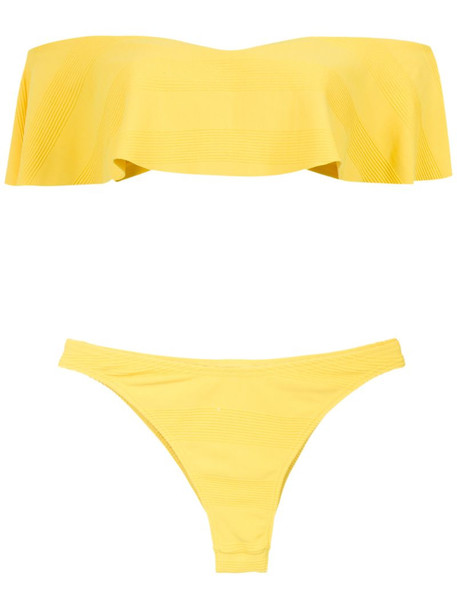 Amir Slama off the shoulder bikini set in yellow