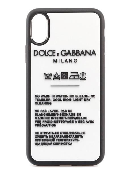 Dolce & Gabbana Phone Cover X Tag Bicolor in black / white