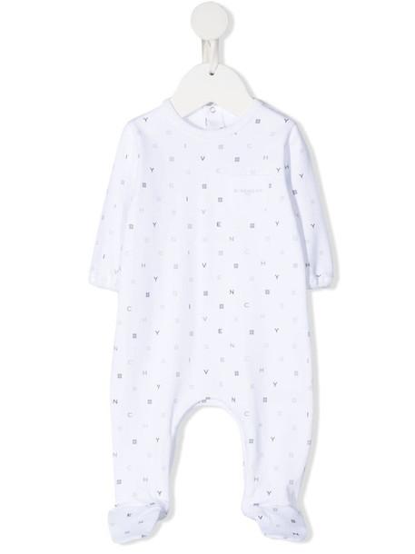 Givenchy Kids all-over logo print romper - White