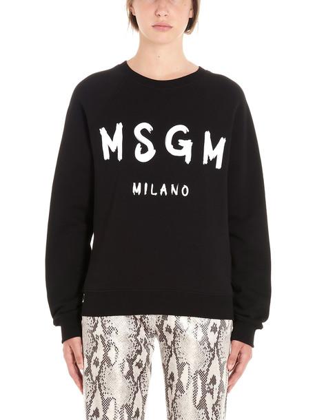 Msgm Sweatshirt in black