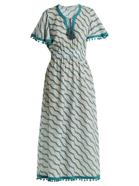 Talitha - Amyra Silk And Cotton Blend Dress - Womens - Green Print