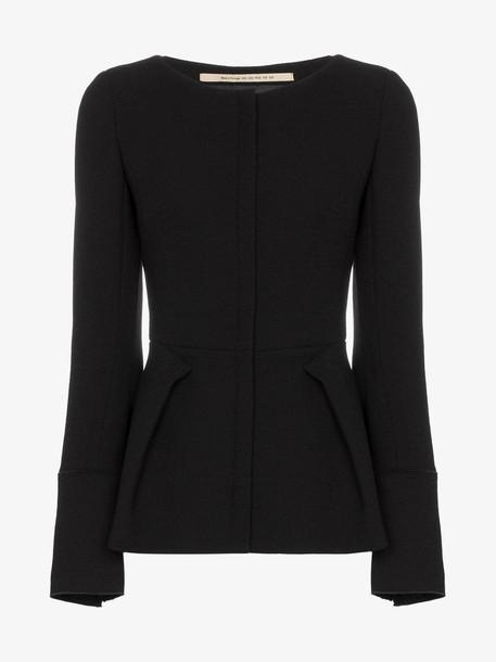 Roland Mouret Rossini Peplum Jacket in black