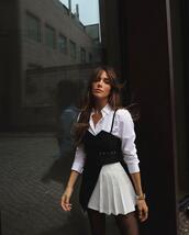 belt,skirt,top