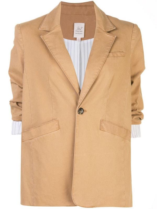 Cinq A Sept Brooke twill blazer in brown